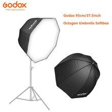 Godox フォトスタジオソフトボックス 95 センチメートル 37.5 インチポータブル八角形フラッシュスピードライトスピードライト傘ソフトボックスソフトボックスブロリーリフ