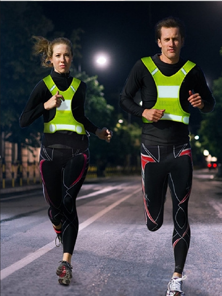 Vest Reflective Men Working High-Visibility Night Outdoor Running-Sports Women Unisex