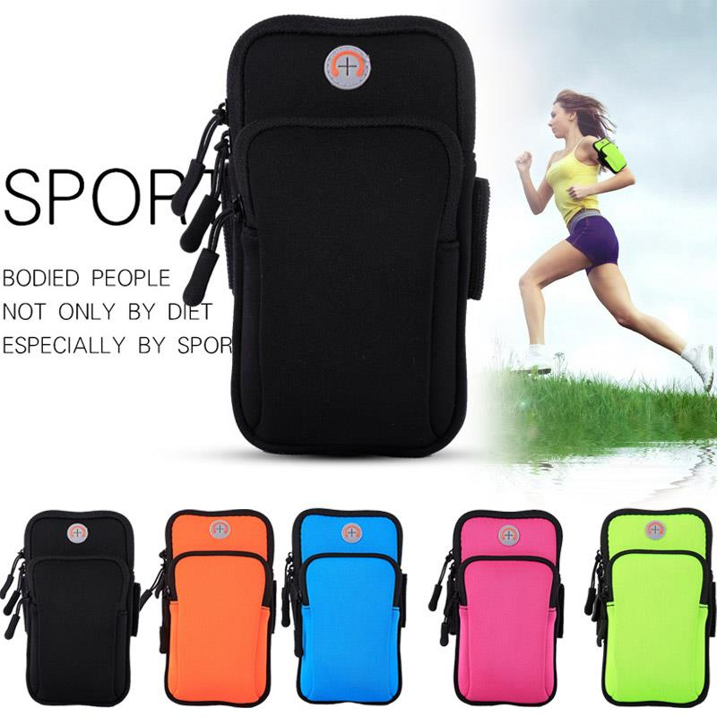 Wrist Wrap Arm Band Pockets Workout Run Nylon Phone Case Bag Arm Package Gym Running Jogging Exercise Sport Outdoor
