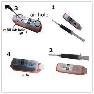 Image 5 - Refill PGI 580 581 XXL nachfüllbare tinte cartridge permanent chip full tinte Für canon PIXMA TS705 TS6150 TS6250 TR7550 TR8550 TS9550