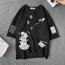 Short Sleeve T Shirt Men'S For 2021 Summer Print Black White Tshirt Top Tees Brand Fashion Clothes Plus Size M-5XL O NECK