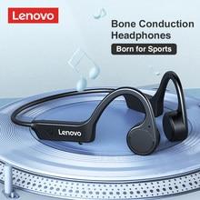 Lenovo x4 condução óssea fones de ouvido esporte correndo à prova dwireless água sem fio bluetooth fone verdadeira condução óssea 2021 novo