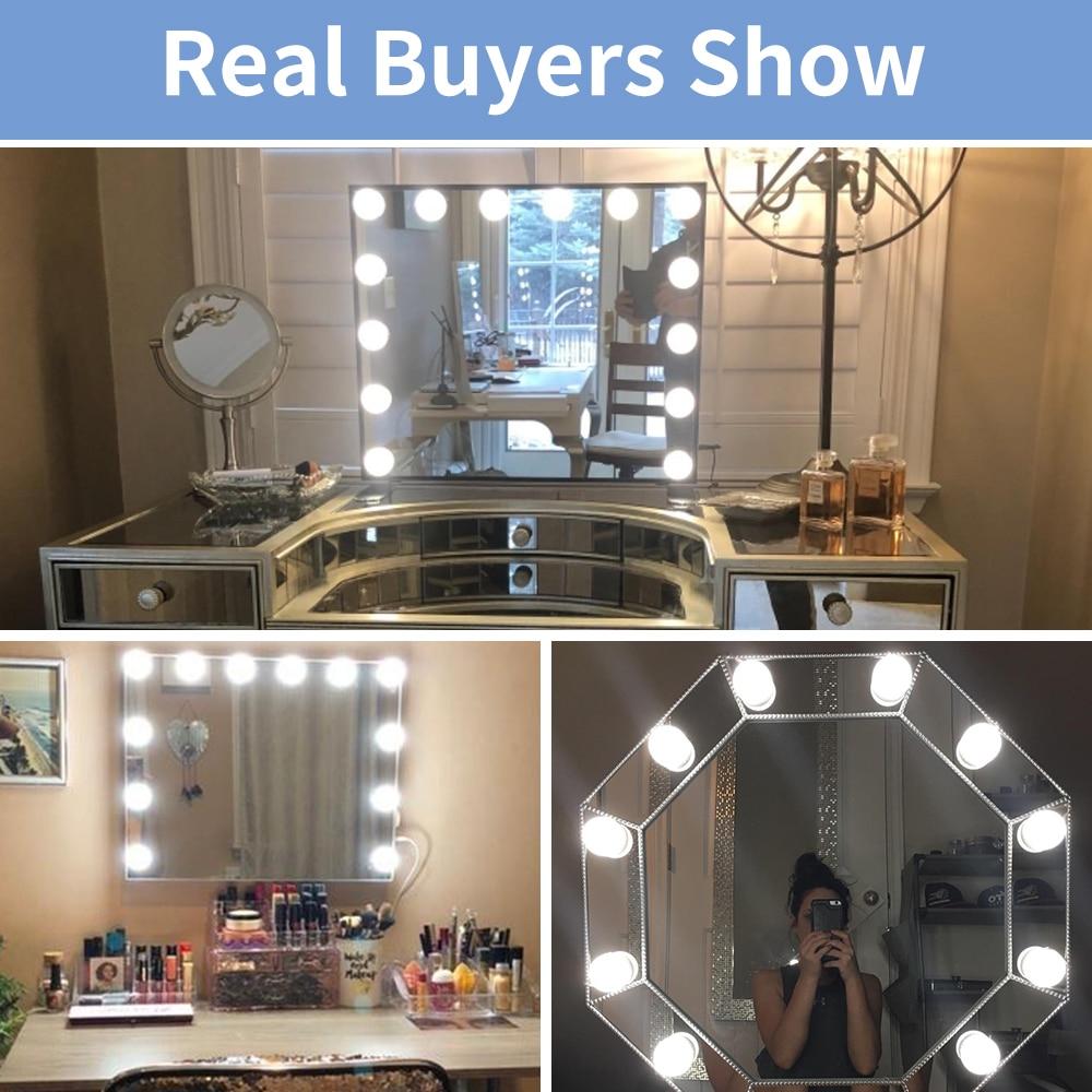Usb СВЕТОДИОДНЫЙ светильник для макияжа голливудский зеркальный