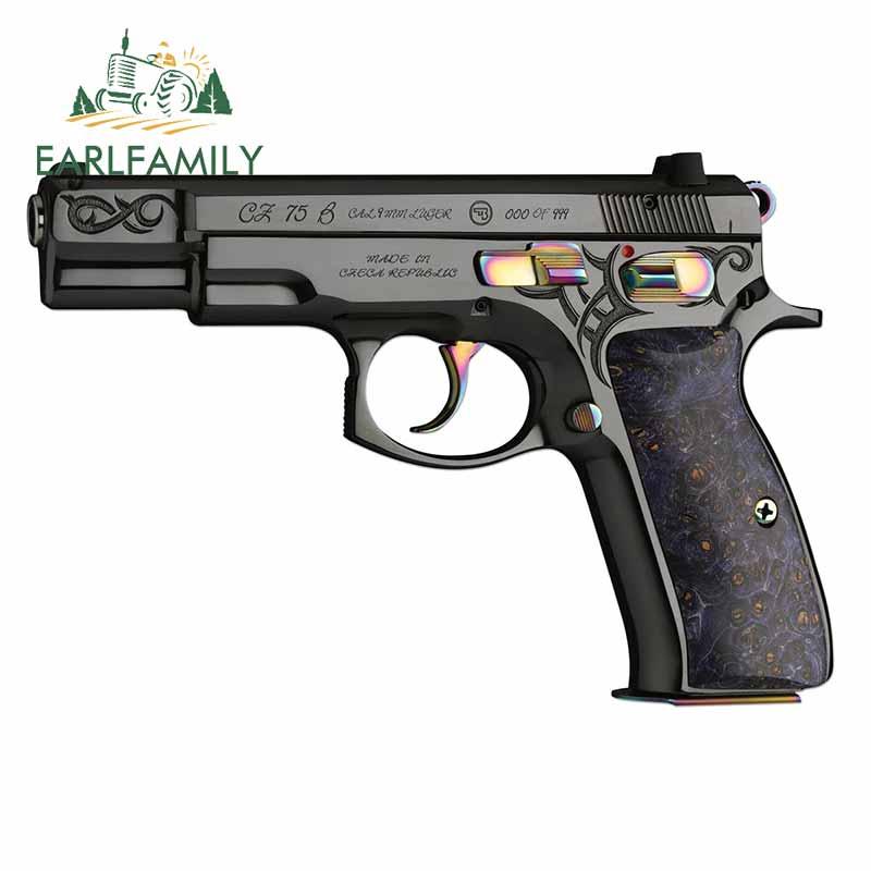 EARLFAMILY 13 см для пистолетов, рук, графическая наклейка, забавная Автомобильная наклейка s и наклейка JDM RV, лобовое стекло, бампер, ноутбук, автом...