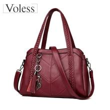 2019 Luxury Handbags Women Bags Designer Quality Tassel Leather Shoulder Bag Female Sac A Main Casual Tote Bag Bolsa Feminina цена в Москве и Питере