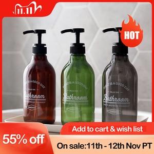 Image 1 - 300/500/600ml Soap Dispenser Cosmetics Bottles Bathroom Hand Sanitizer Shampoo Body Wash Lotion Bottle Outdoor Travel Sub bottle