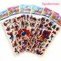 Наклейки 10 листов 3D Пышное пузырчатые наклейки с героями мультфильмов в стиле «Питер Пэн», Человек-паук животных из непромокаемой ткани, мя...