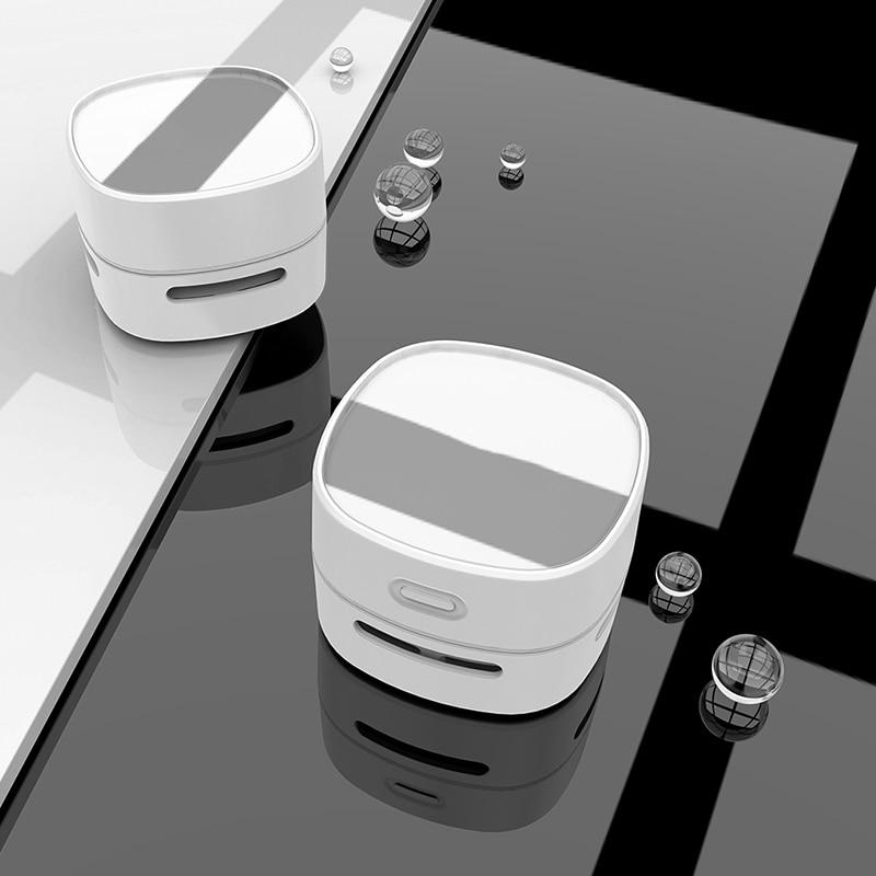 Ev ve Bahçe'ten El Itme Süpürgeleri'de Masaüstü elektrikli süpürge kompakt Mini masaüstü temizlik robotu ev ofis ev ofis vb masaüstü Mini makinesi toz toplayıcı title=