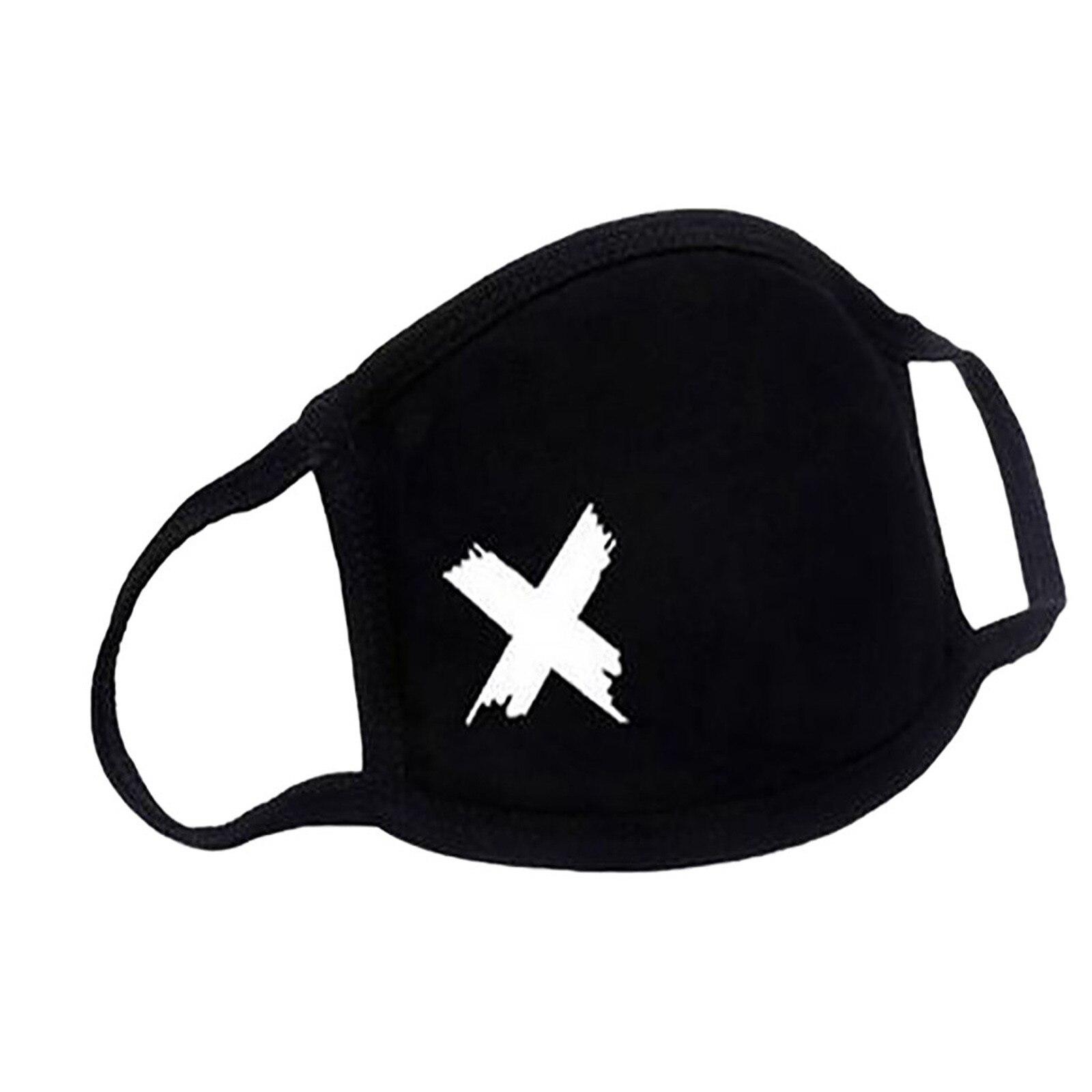 Adulto ao ar livre máscara de algodão coração impressão máscara facial à prova de poeira ajustável lavável capa de boca mascarillas ciclismo maske preto # f 5