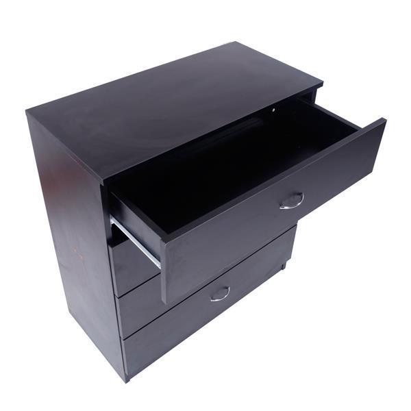 Four Drawer Black Dresser  4