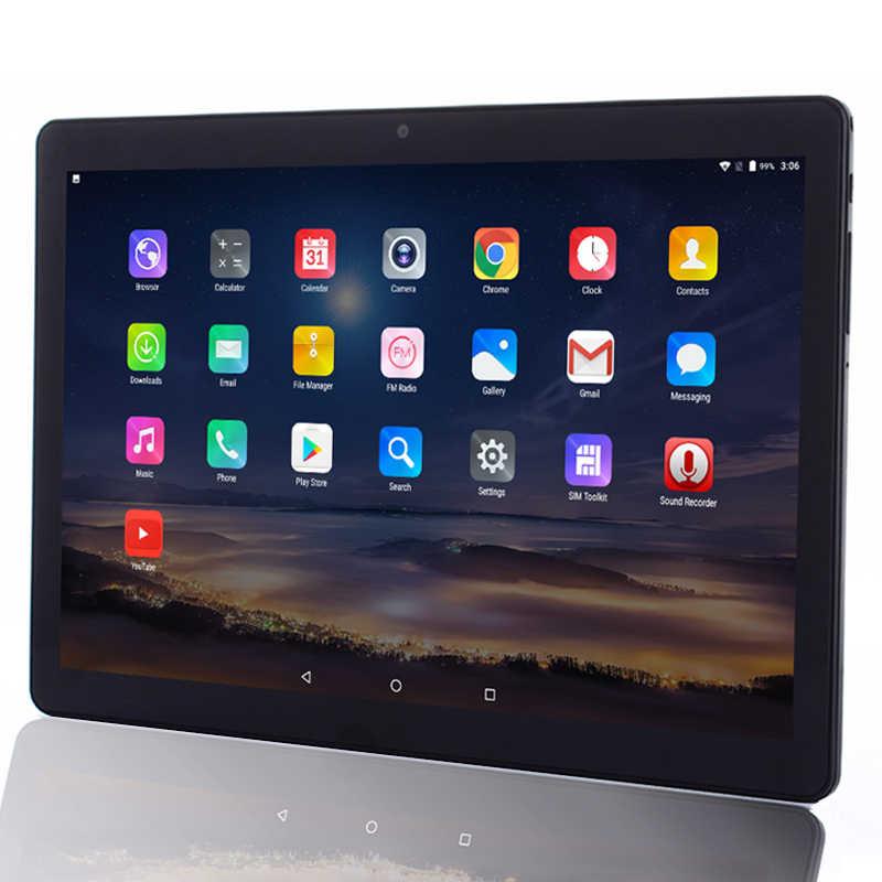 2.5D temperado 10 polegada Tablet PC 1920*1200 IPS tela Android 8.0 GB de RAM GB ROM 64 6 4G WI-FI Phone call tablets 5G WIFI câmera 8MP