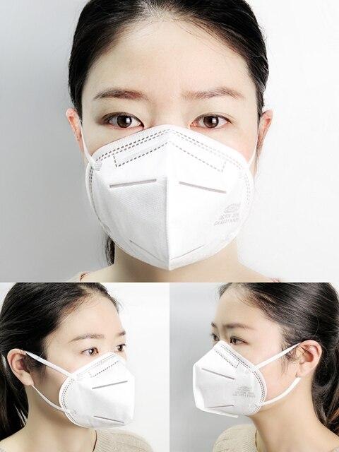 100pcs KN95 Masks Protective Dust Face Mask Flu Pm2.5 Filter Mask N95 Mask Respirator Antivirus Mask as KF94 FFP2 FFP3 3
