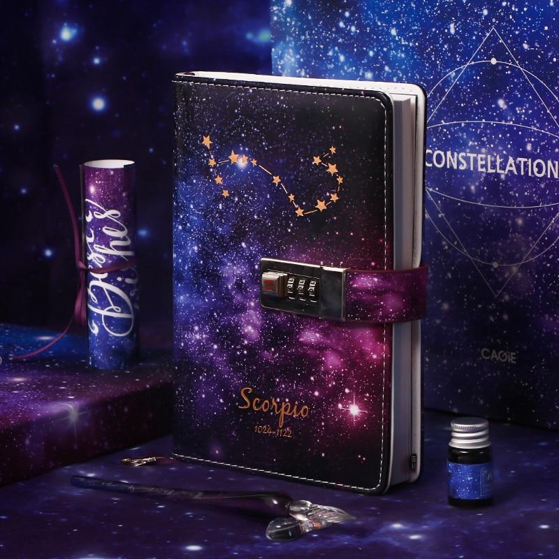 Constellations Notebook Code Book Gift Notebook Diary For Pisces Gemini Aquarius Capricornus Scorpio Taurus Cancer Aries