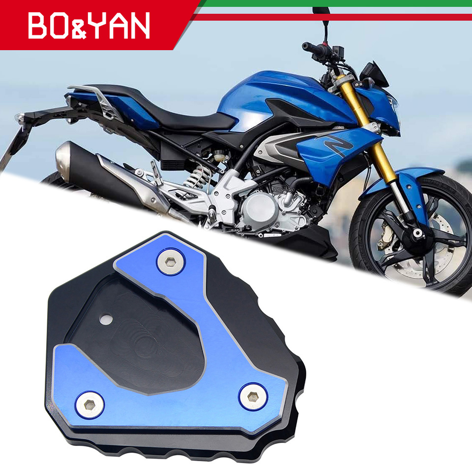 For <font><b>BMW</b></font> <font><b>G310R</b></font> 2013 2014 2015 2016 2017 2018 Motorcycle <font><b>Accessories</b></font> Side Stand Kickstand Enlarge Extension Pad image