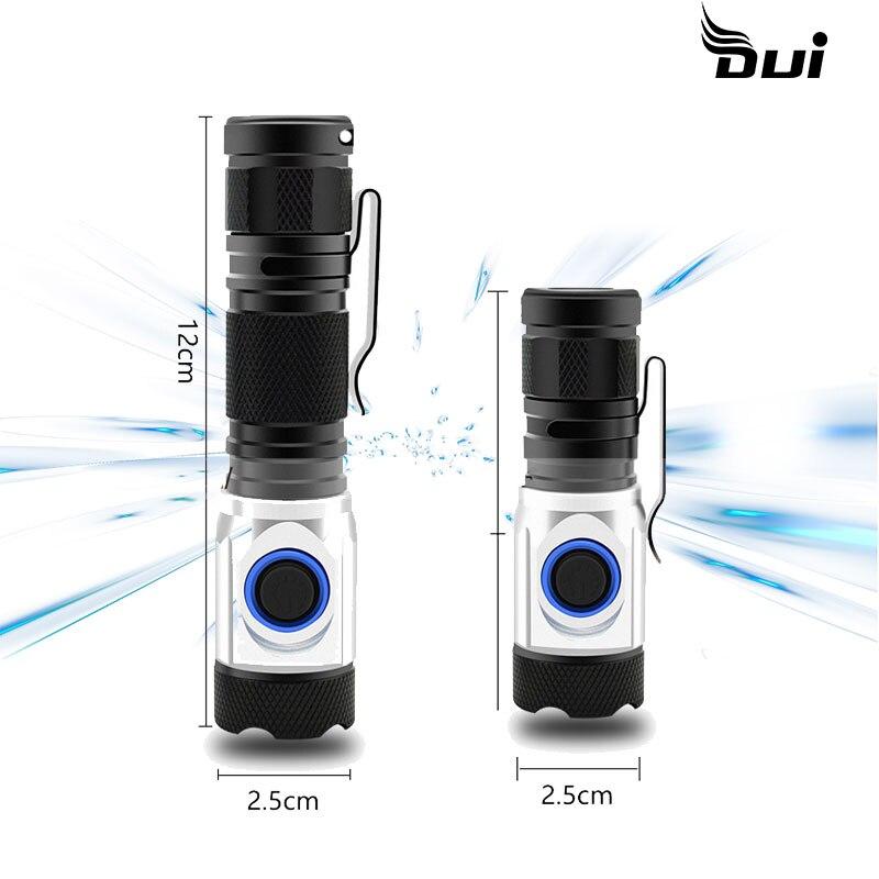 DUI New 4*XPG LED Multi-function Tactical USB Powerful Mini Rechargeable Led Flashlight