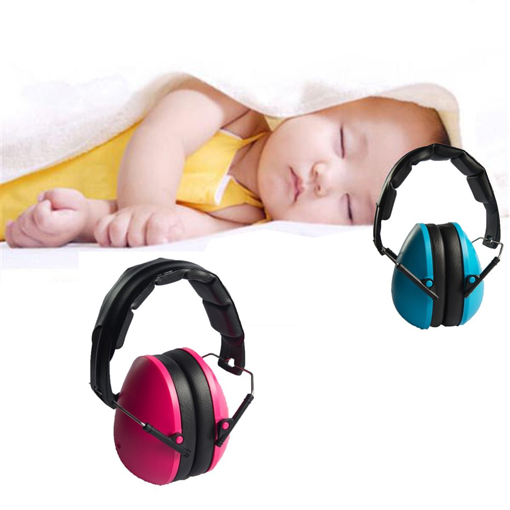 Kids Earmuffs Hearing Protectors Adjustable Headband Ear Defenders For Baby Soundproof Anti-noise Earmuffs Color:pink