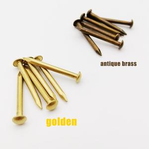 Small Mini Tiny Brass Pure Copper Nail