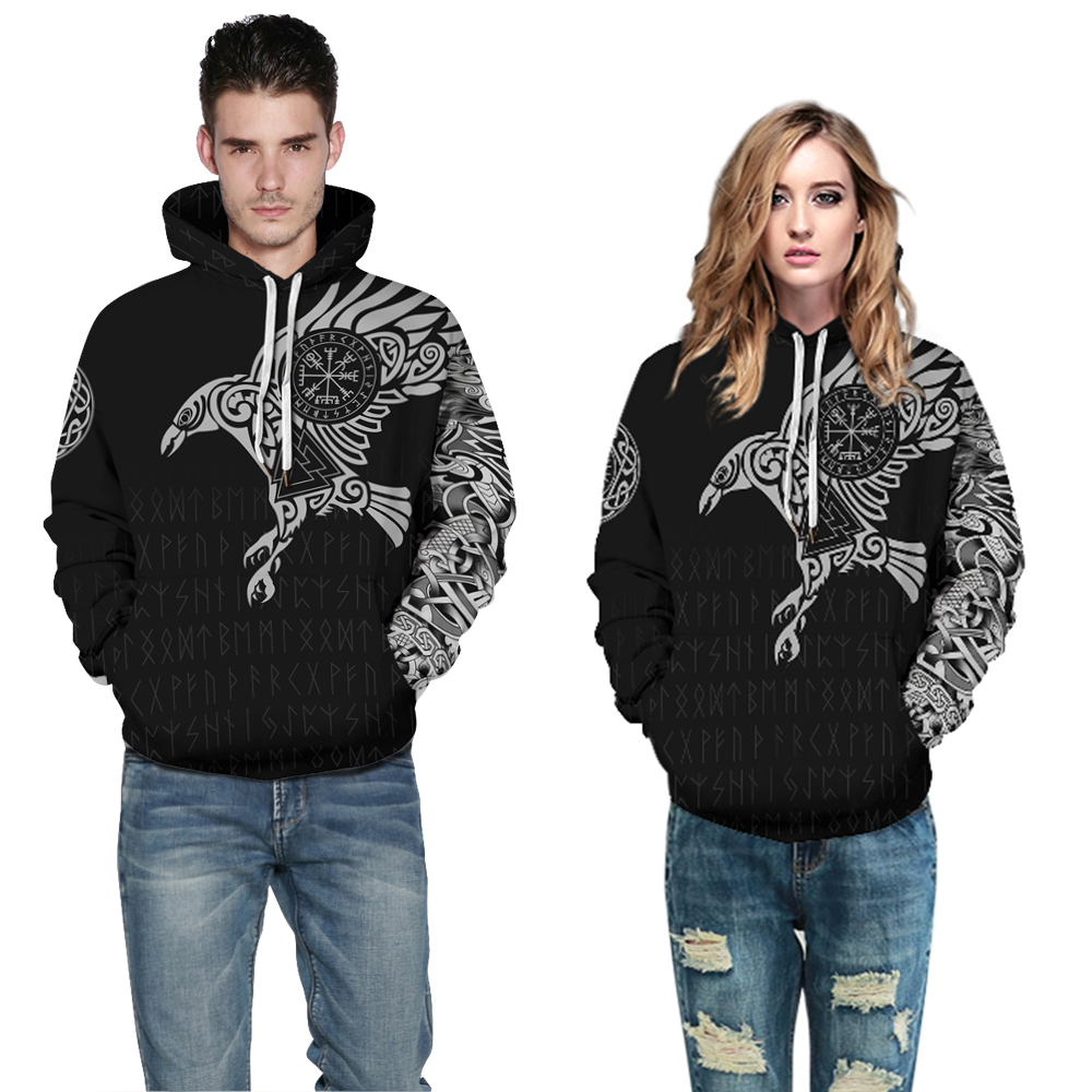 3D Printed Viking Mythology Hoodie Women Men Clown Sweatshirt Hoodies World Of Warcraft Sweater Sports Pullover Hoody