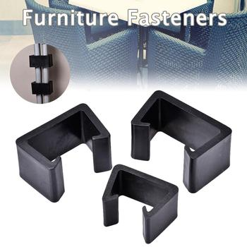 Plastic Furniture Fastener Heat Resistant Furniture Clip Outdoor Patio Wicker Furniture Clip Chair Couch Clamps For Wicker Sofas image