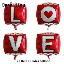 Dana jiau 14th FEBRUARI Valentijnsdag decoratie Folie Ballon XOXO LIEFDE brief trouwzaal muur ballon anniversary dag helium bal(China)