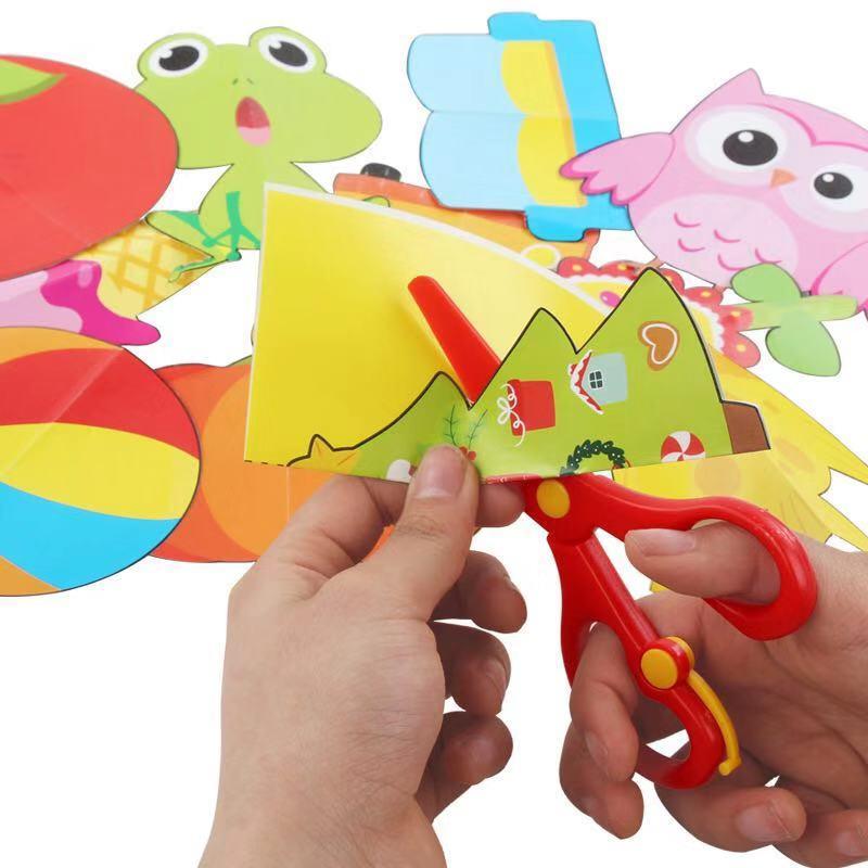 Детские Мультяшные цветные оригами/бумажные режущие игрушки/детское искусство для детского сада DIY детские развивающие игрушки цветная