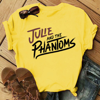 Julie and The Phantoms T Shirt Womens  Beautiful streetwear Girl shirt Black And White Printed Portrait artwokr Baseball Tee