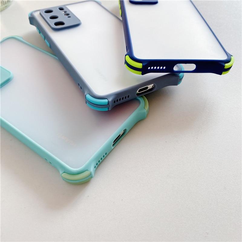H002d6c7617b8432fa0d4c009fcbda57cV Capinha celular case Anti queda caso do telefone na para xiaomi poco f2 x2 m2 pro caso redmi 9 9a 9c 8 8a nota 7 8 9 à prova de choque transparente capa de silicone