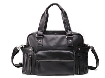 High Hapacity Weekend Bag Men Genuine Leather Travel Bag Classic Shoulder Crossbody Cowhide Duffel Bag Leisure Totes DF114