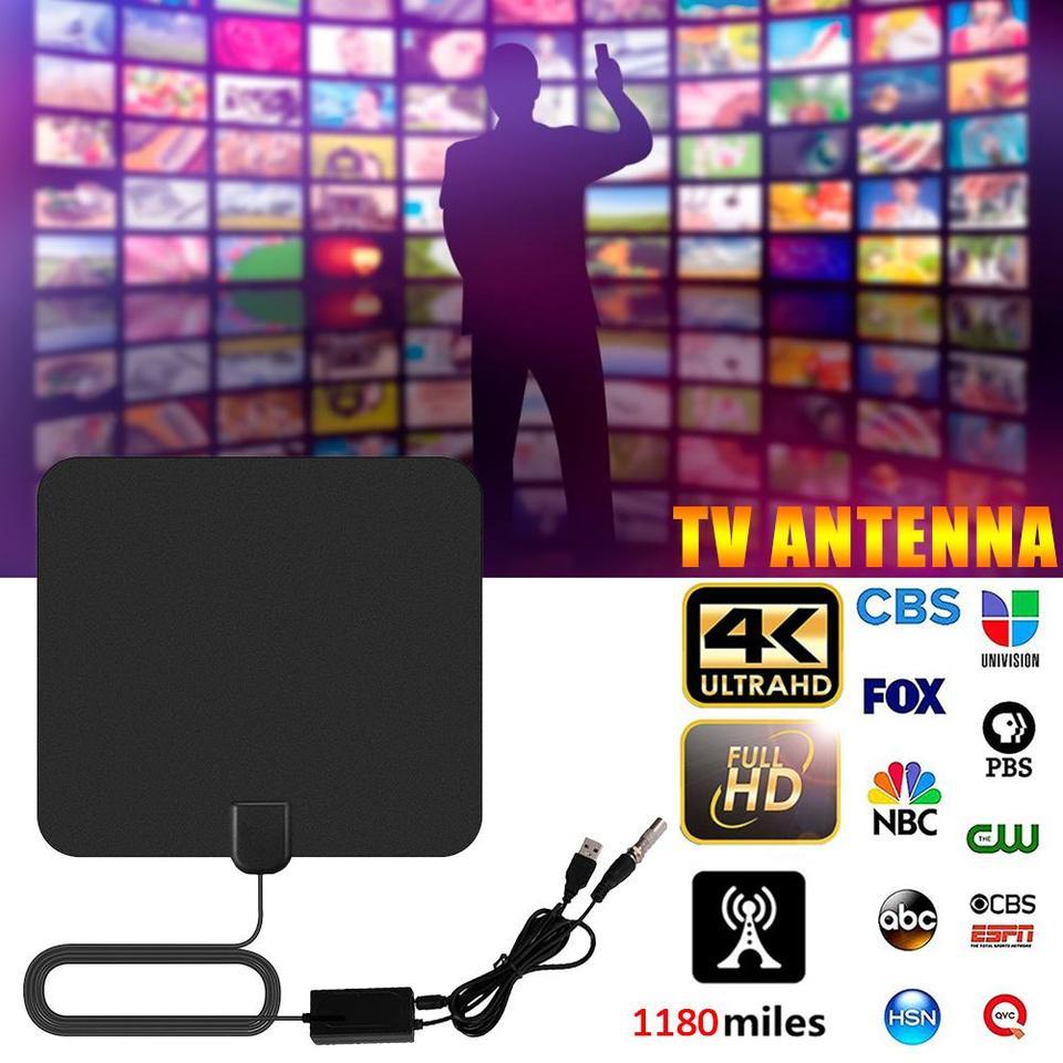1180 Miles 4k Digital Hdtv Indoor Tv Antenna With Amplifier Signal Booster Tv Radius Surf Fox Antena Hd Tv Antennas Aerial Tv Antenna Aliexpress