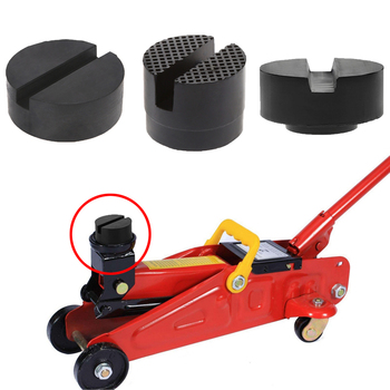1Pc Car Lift Jack Stand Rubber Pads Black Rubber Slotted Floor Jack Pad Frame Rail Adapter for BMW Audi Benz Skoda Ford Toyota