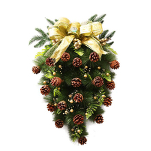 60CM Christmas Tree Horn Garlands Cane New Years Decor Inverted tree-shaped Decorations Hang