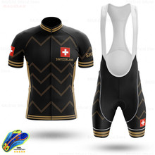CH Cycling Clothing 2020 Switzerland Custom Ropa Ciclismo Hombre Short Sleeve Cycling Set Mtb Bike Uniforme Maillot Ciclismo