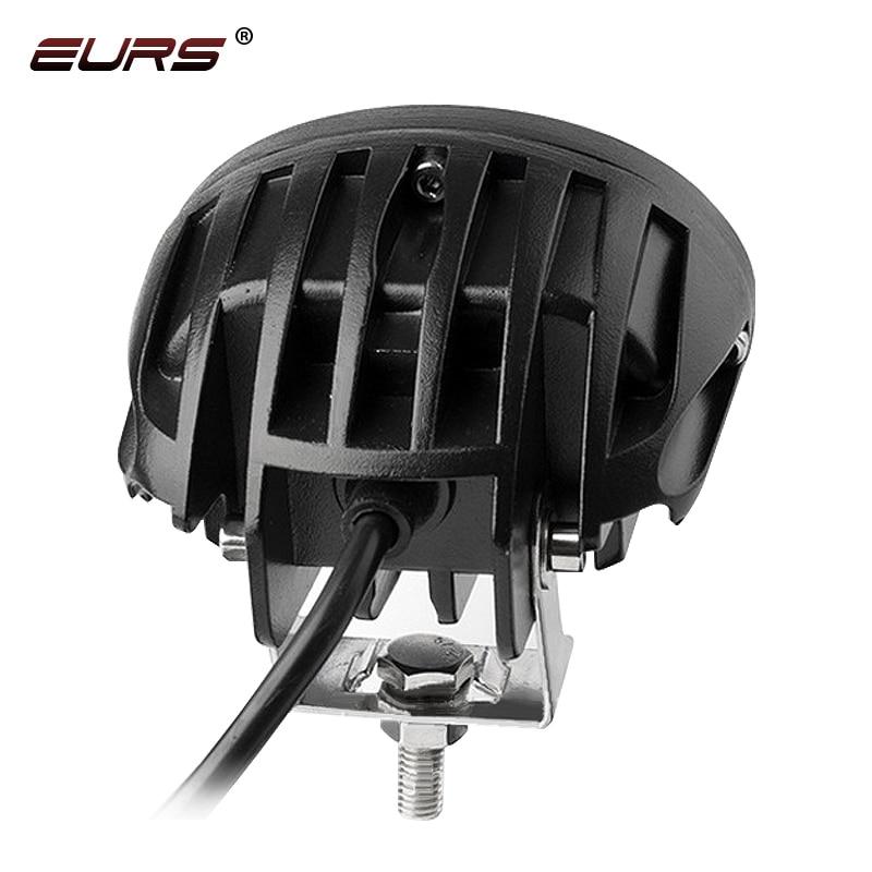 cheapest EURS 20W Motorcycle Headlights Lamp 3000K Spotlight Accessories headlamp LED Motor Spot Head Lights DRL 3000lm 6000K 12V 24V