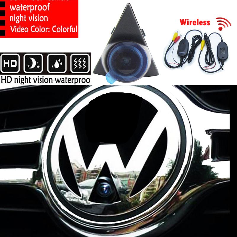 2.4 GHz Wireless SONY CCD Car Front View Camera Backup HD Car Parking For VW GOLF Bora Jetta Touareg Passat Lavida Polo Tiguan