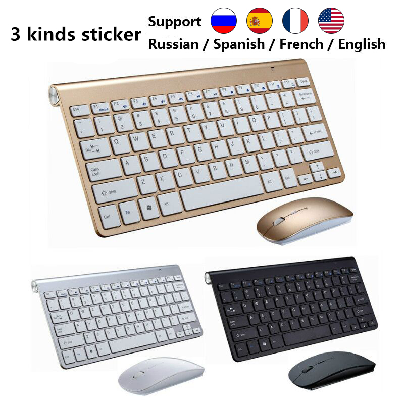 RETROMAX Wireless Keyboard With Mouse Set For PC/Laptop/TV/Notebook/Tabletl/TV Box/Android/IOS System With USB Connector