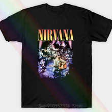 Official Charcoal Nirvana Mtv Unplugged In York Unisex T-shirt From Amplified