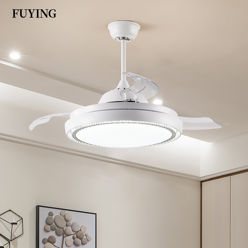 Invisible <font><b>Fan</b></font> Lamp Nordic Style Living Room <font><b>Ceiling</b></font> <font><b>Fan</b></font> Lamp New Home Decoration Dining Room Electric Ceilling <font><b>Fan</b></font> Lamps image
