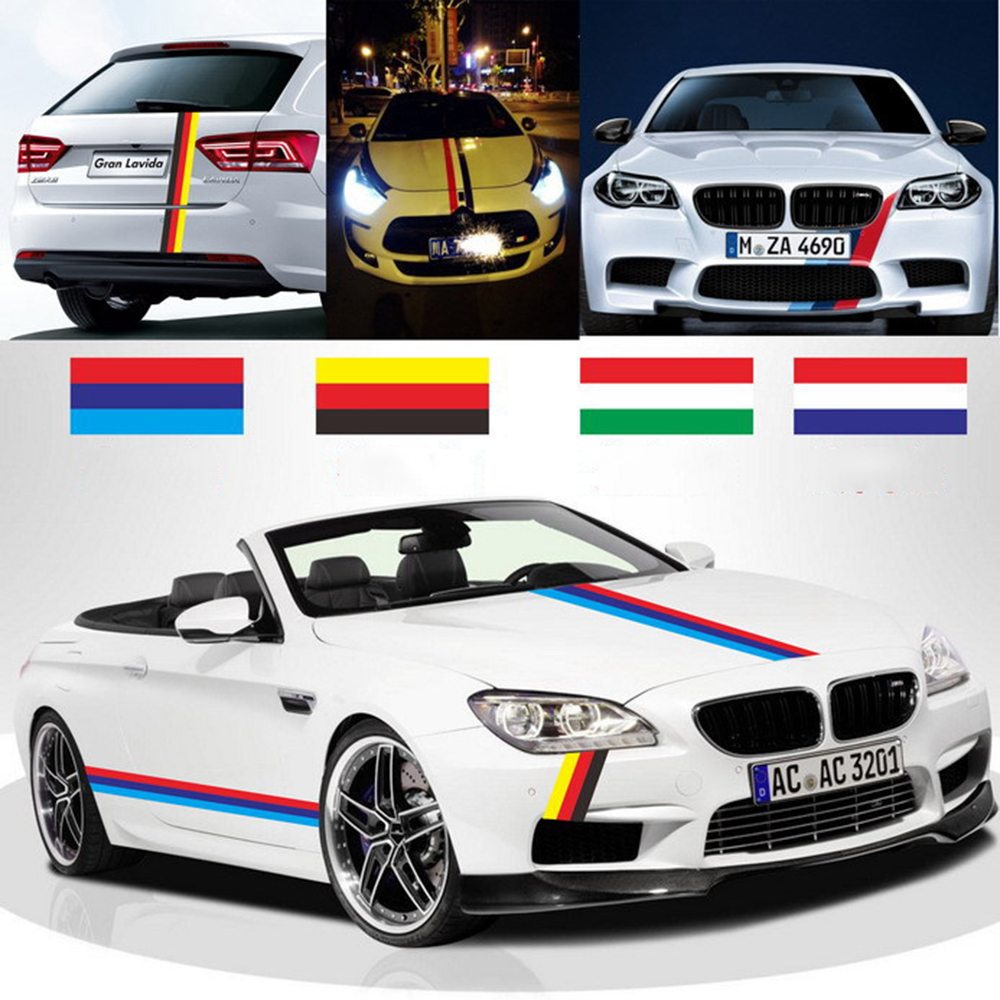 Car Styling M Germany France Italy Full Body Flag Stickers And Decals Waterproof For BMW E46 E39 E90 E60 F30 E34 E53 F10 F30 E30 image