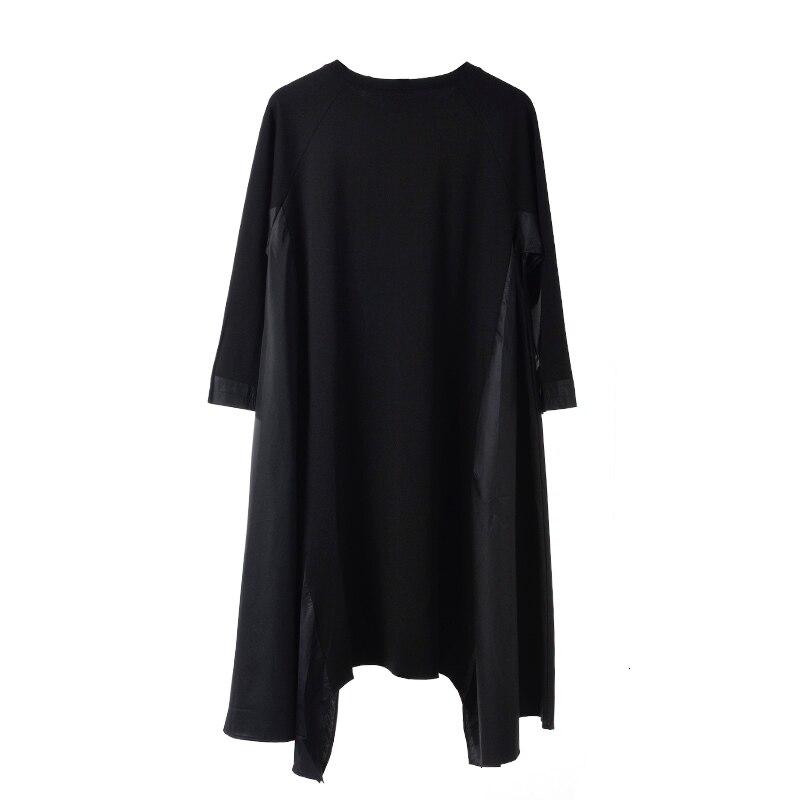 New Fashion Style Black Asymmetrical Big Size Long Dress Fashion Nova Clothing
