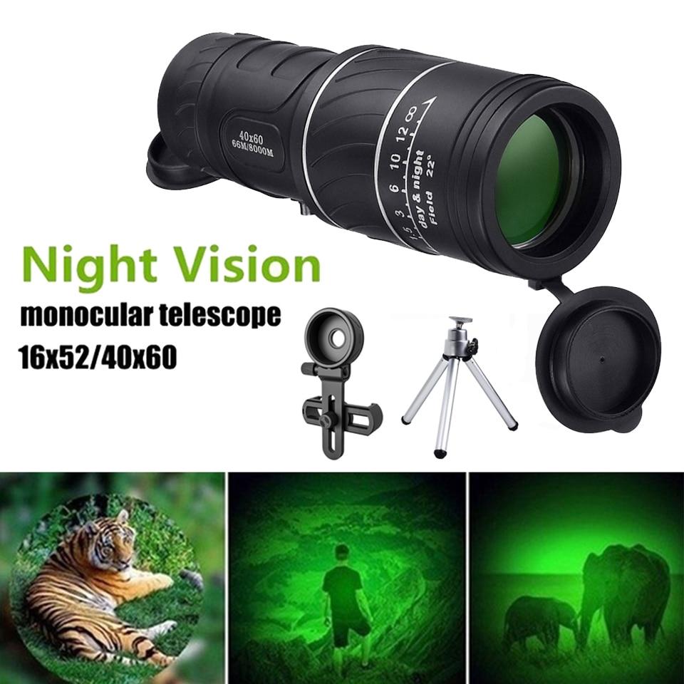 9000m HD Military Monocular Telescope Night Vision Binoculars Professional Powerful Long Range 40x60 Portable Outdoor Multi Tool