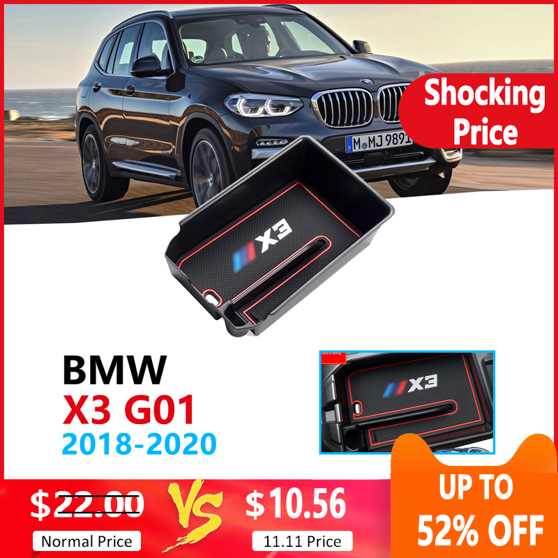 Car Organizer Accessories For BMW X3 G01 2018 2019 2020 Armrest Box Storage Stowing Tidying Coin BBox X3M XDrive 20i 20d