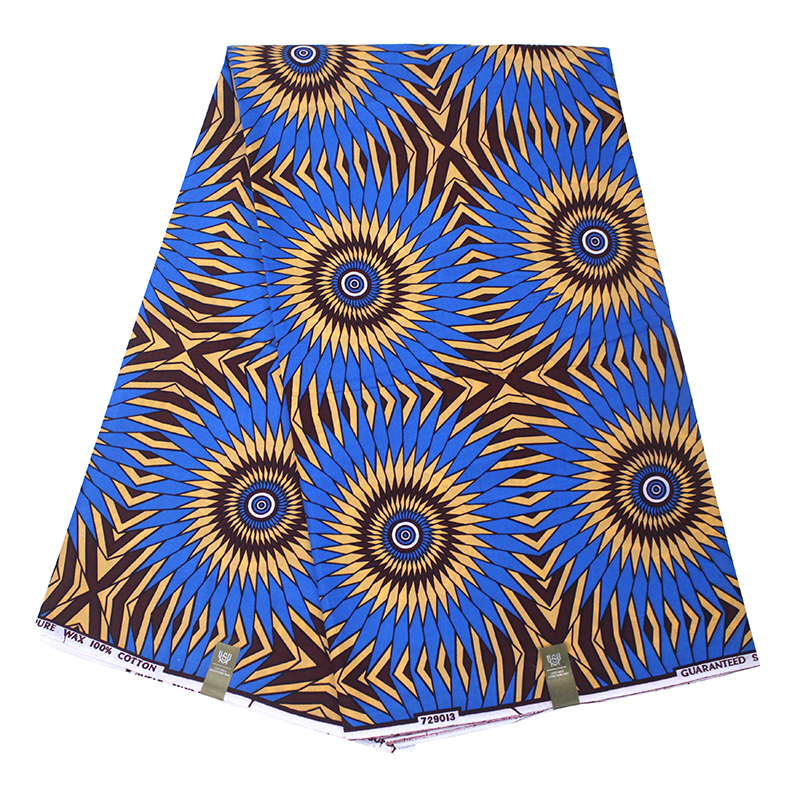 Beautiful Batik Ankara Africa Printing Fabric Real Dutch Wax Soft Cotton Best Quality For Dress 6yards/lot Z3381