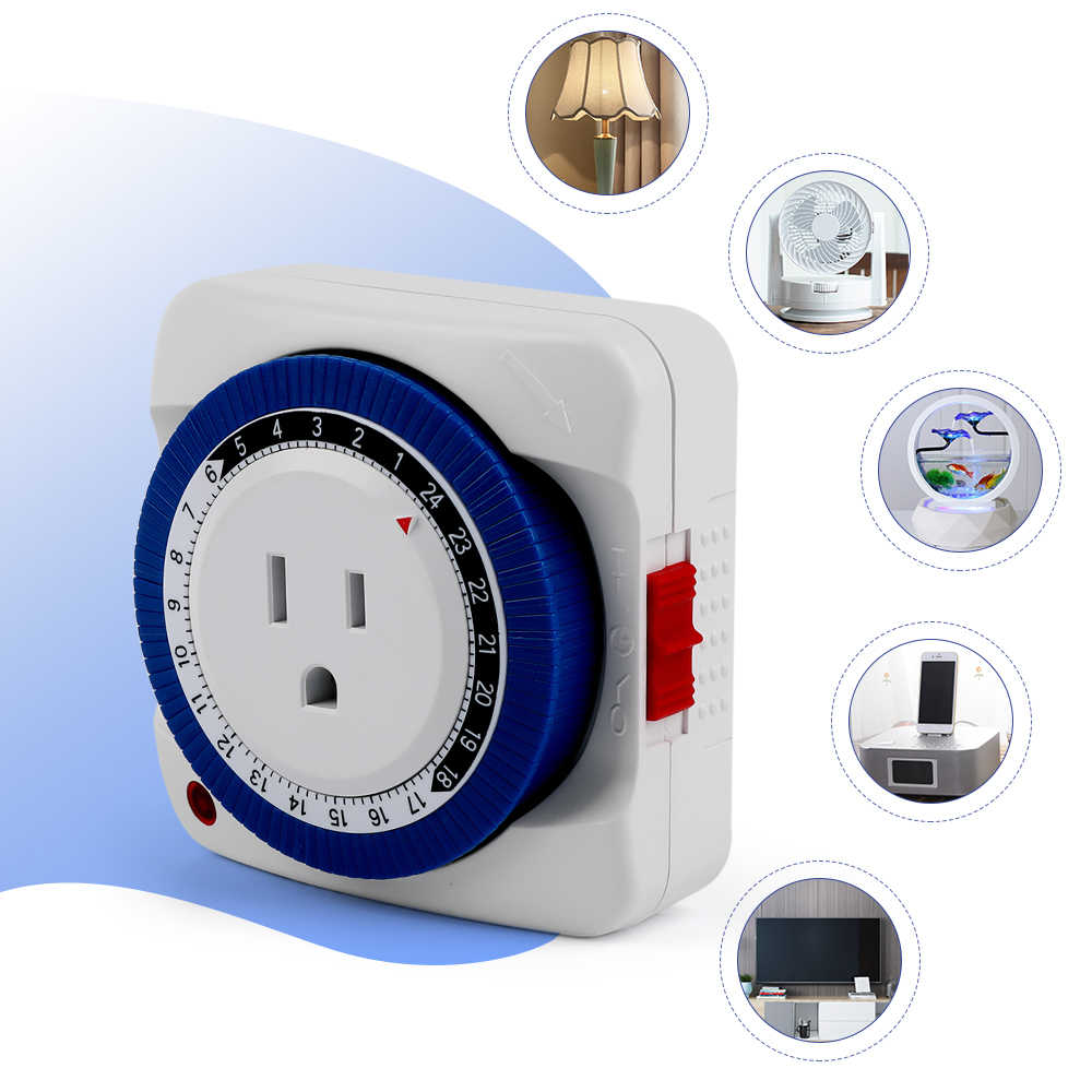 Wyłącznik czasowy gniazdo 24 godziny mechaniczny programator czasowy przełącznik gniazdo 230 V/125 V ue/usa wtyczka ścienna protector oszczędzanie energii