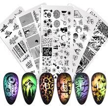 NICOLE дневник ногтей штамповки пластины кружева цветок животный узор дизайн ногтей штамп штамповка шаблон изображения пластины трафаретные гвозди инструмент