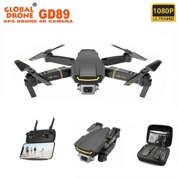 Global Mini Drone 4K Quadrocopter GPS 5G WIFI FPV 12min Boys Toys Foldable RC Quadrocopter Drone with HD Camera Kit GD89 VS E58