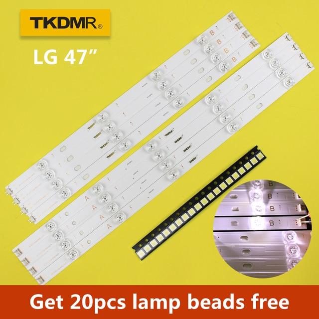 "TKDMR 98 см Светодиодная подсветка лампа полоса 9 светодиодов для LG 47 ""TV innotek DRT 3,0 47"" 47LB6300 47GB6500 47LB652V 6916L 1948A 1949A LC47"