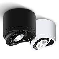 Cob led recessed downlights pode ser escurecido 5 w 7 9 15 superfície montado lâmpadas de teto led ponto luz rotação 360 graus led downlight|Luzes embutidas de LED| |  -