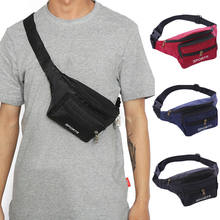 Black Waist Fanny Pack Belt Money Bag Pouch Travel Sport Hip Purse Men Women Bum(China)