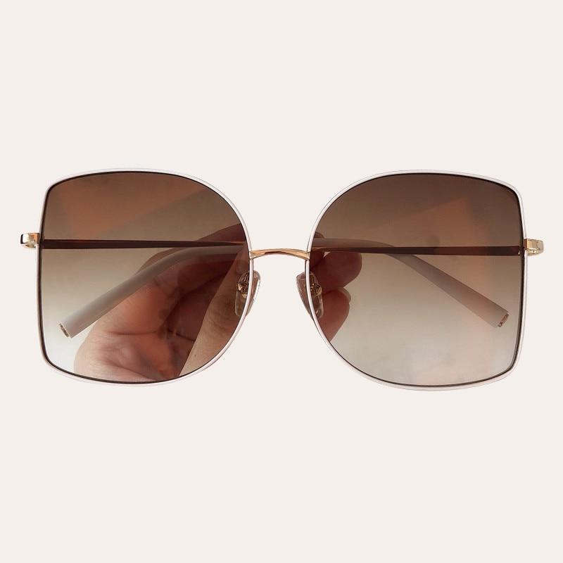 Vintage Oversize Square Sunglasses Women Men Luxury Brand Metal Frame Female Shades gafas de sol hombre