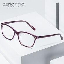 ZENOTTIC Acetate Square Glasses Frame For Men Clear Lens Ladies Brand Designer Spectacles Myopia Optical Reading Eyewear BT3031